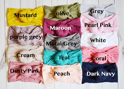 Choose Color - Nylon Round Top Knot Headwrap Headband