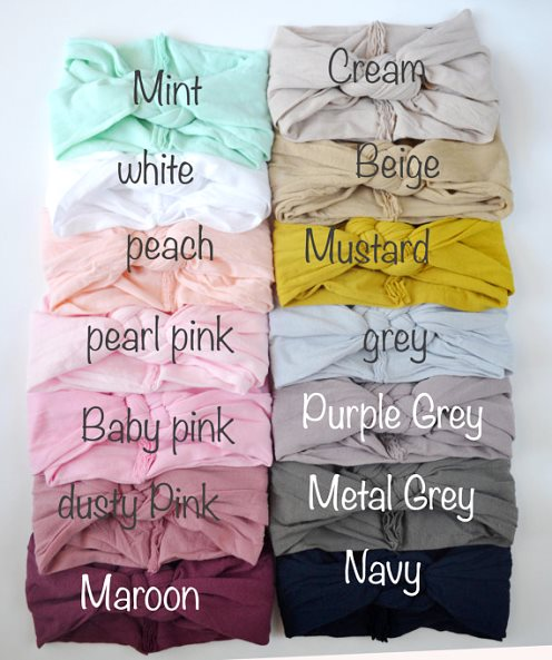Choose Color - Sailor Knot Braided Nylon Headwrap Headband