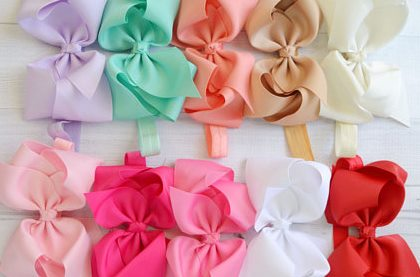 Choose Color - Large Hair Bow Baby Headband