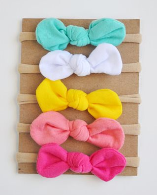 Summer Brights Starter Set of 5 Infant Knot Baby Bow Headbands
