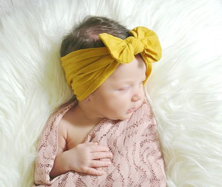Choose Color - Nylon Messy Bow Headwrap Headband