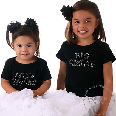 Big Sister Girls Rhinestone Tee