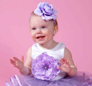 Lilac Rose Flower Headband