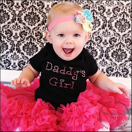 Daddys Girl Rhinestone Bling Top