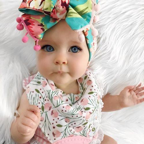 Summer Delilah Rose Floral Pom Pom Headwrap