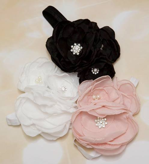 Choose Color - Baby Girl Dressy Large Flower Headband