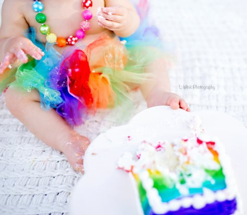 Bright Rainbow Birthday Tutu