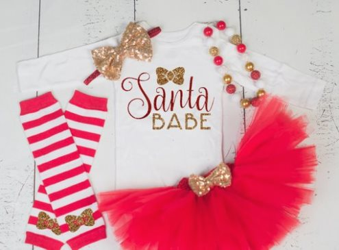 26163e6d7 infant christmas outfit baby girl first christmas outfit newborn 1st ...