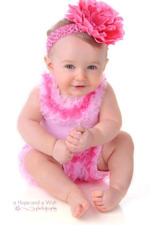 Candy Pink Peony Blossom Baby Headband