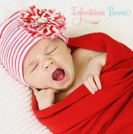 Newborn Baby Girls Christmas Hospital Hat