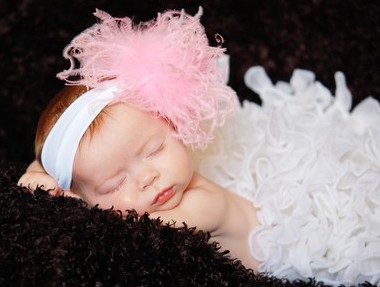 Soft Pink Curly Ostrich Feather Headband