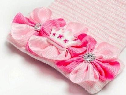 Lil Princess Tiara Newborn Boutique Hospital Hat