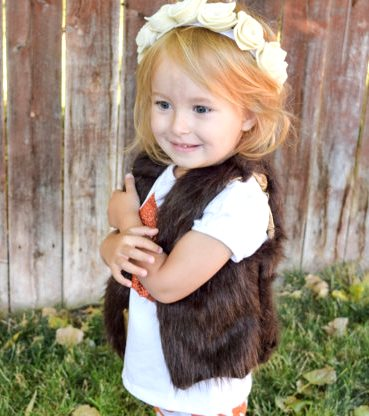 6b32a5a52 Chocolate Brown Faux Fur Furry Baby Girl Vest