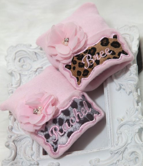 Newborn Personalized Animal Print Newborn Hospital Hat