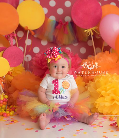 Colorful Lollipop Candy First Birthday Tutu Outfit