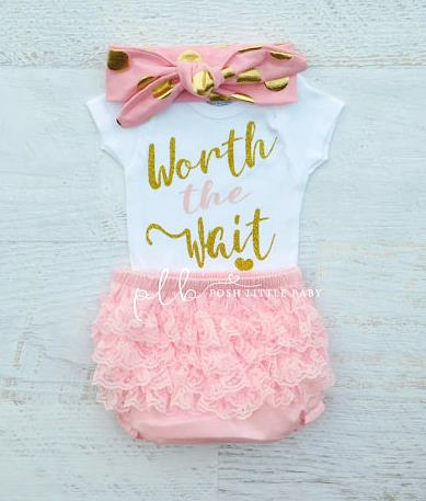Worth the Wait Baby Onesie Bodysuit