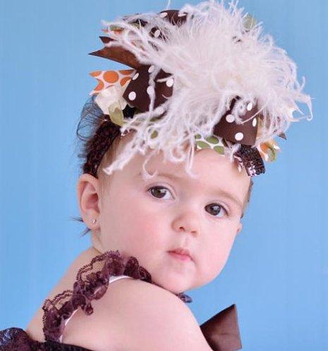 Harvest Fall Over The Top Hair bow Headband
