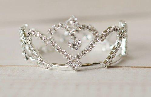 Adeola Newborn Rhinestone Infant Crown