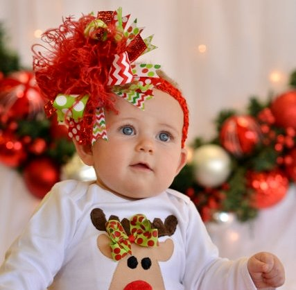 7d623e7ec8c9c Christmas Celebration Over the Top Hair Bow Headband