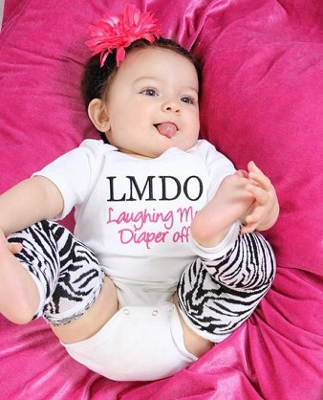 Laughing My Diaper Off Embroidered Onesie