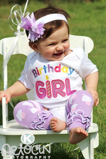 Smash Cake First Birthday Girl Onesie