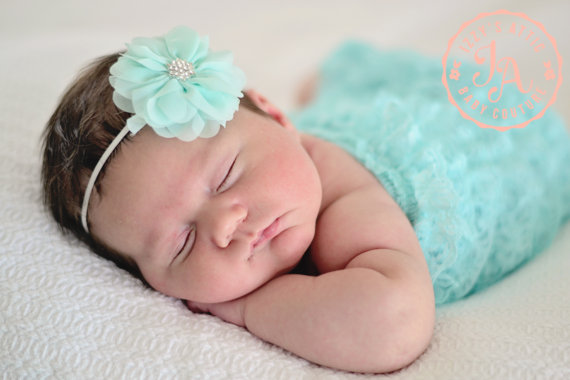 Aqua Couture Flower Headband
