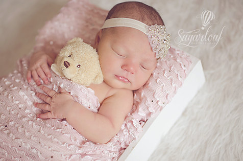 Sparkle Couture Rhinestone Infant Headband & Matching Barefoot Sandals