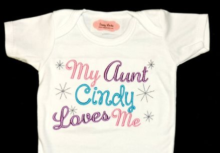 Personalized My Aunt Loves Me Onesie