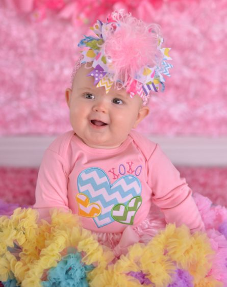 Pastel Conversation Hearts Chevron Valentine Onesie Hair Bow Pettiskirt Outfit Set