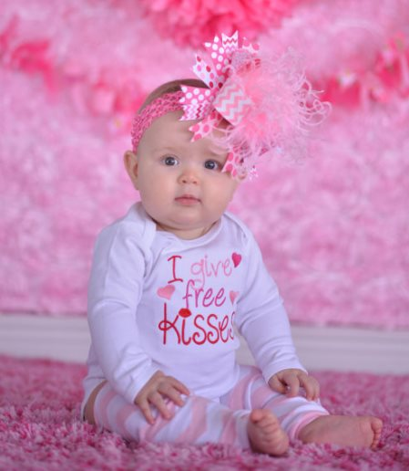 I Give Free Kisses Valentine Heart Onesie