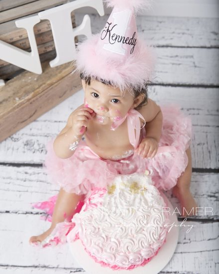 So Sweet Pink & White Dots First Birthday Party Hat