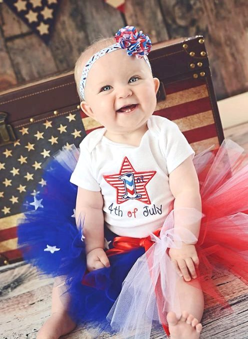 9833773fd Baby Girls First 4th of July Boutique Outfits, Forth of July