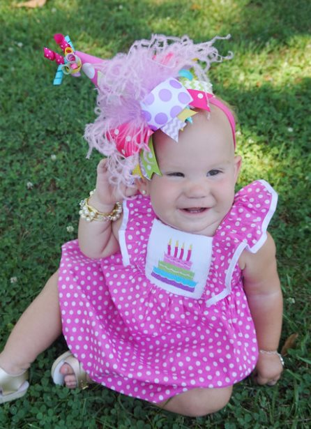 Mini Party Hat Over the Top Hair Bow Headband