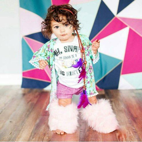 Mint Floral Baby Girl Kimono