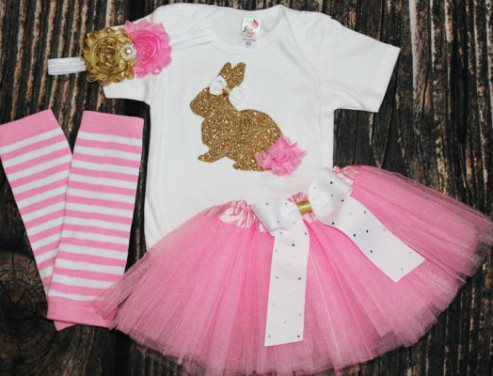 35977cff6452 Newborn Baby Girl My First Easter Boutique Outfits Page 3