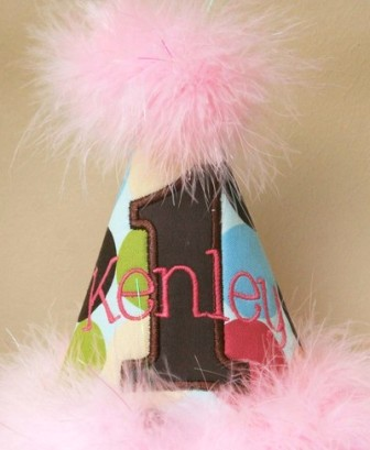 Adorable Colored Dots Birthday Party Hat