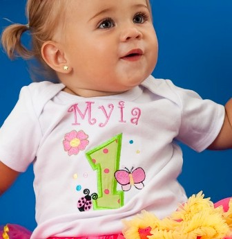 Flower Garden Personalized Birthday Onesie