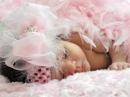 Sheer Organza Pink Princess - Over-the-Top Hair Bow Headband
