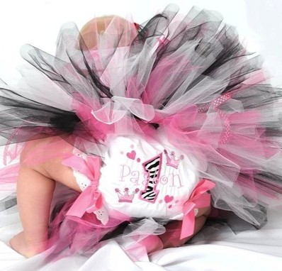 Zebra Party Princess First Birthday Bow Diaper Bloomers