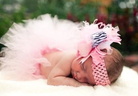 Light Pink & Zebra - Over-the-Top Hair Bow Headband