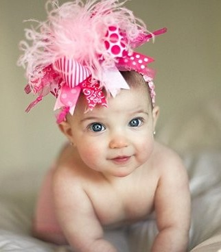 Crazy for Pink Over the Top Hair Bow Headband
