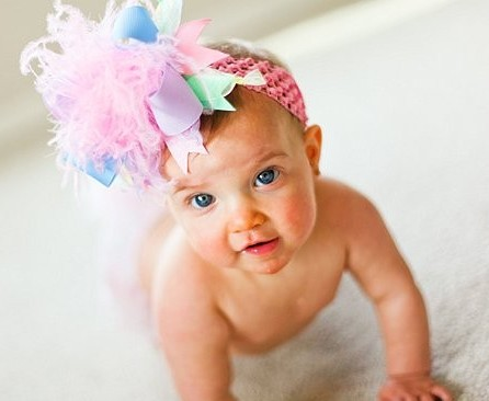 Easter Spring Pastel Over The Top Hair Bow Headband