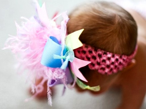 Spring Pastel Over The Top Hair Bow Headband