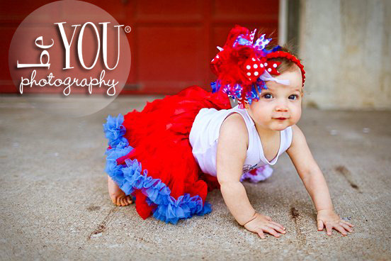 Funky 4th of July Over The Top Hair Bow Headband