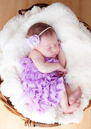 Lavender Lace Petti Romper