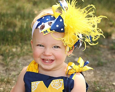 CUSTOM - Sports Over the Top Hair Bow Headband