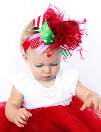 Christmas gift bow headband