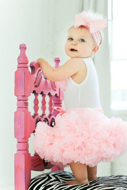 Light Pink Marabou Hair Bow Headband