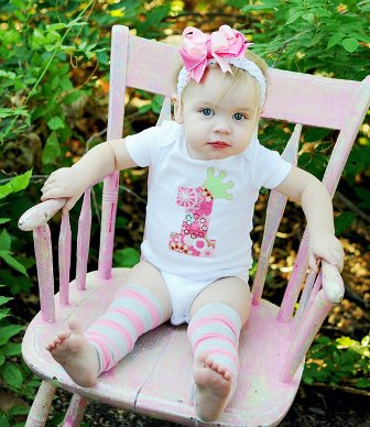 1st Birthday Princess Onesie Hair Bow Outfit Set