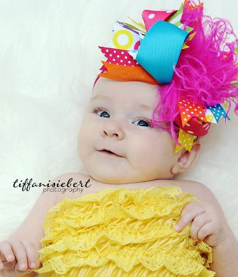 Bright and Bold Summer Over the Top Hair Bow Headband